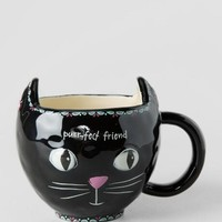 Purr-fect Friend Black Cat Mug