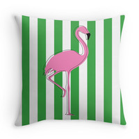 Flamingo in Aruba - Decor Pillow (more colors)