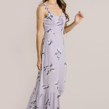 Farrah Lavender Floral Maxi Dress