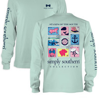 Simply Southern Stamps Shirt - Mint