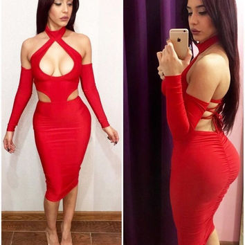 'Boss Amongst Bosses'  Keyhole Bandage Dress