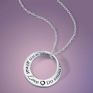 Do Small Things With Great Love Sterling Silver