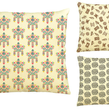 Watercolor Aztec Patterns Printed Cotton Decorative Pillows Case VPLC_03