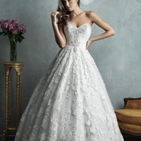 Allure Couture C328 Lace Ball Gown Wedding Dress