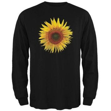 ESBGQ9 Giant Sunflower Mens Long Sleeve T Shirt