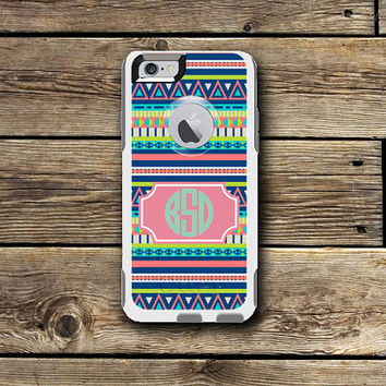 iPhone 6 Case Personalized Monogrammed iPhone OtterBox Commuter Case - Samsung Galaxy S5, iPhone 4/4S, iPhone 5/5S, iPhone 5c  Aztec Pattern