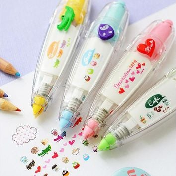 DCCKL72 Sweet floral correction tape pen sticer kid's stationery decor tapes adesivos label tape sticker paper masking tape adesivi