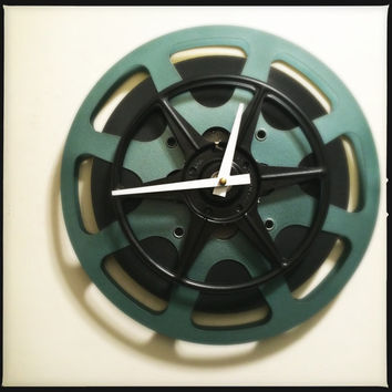 Film Reel Wall Clock Theater Room Wall Clock Media Room Wall Clock Screening Room Wall Clock Kitchen Clock