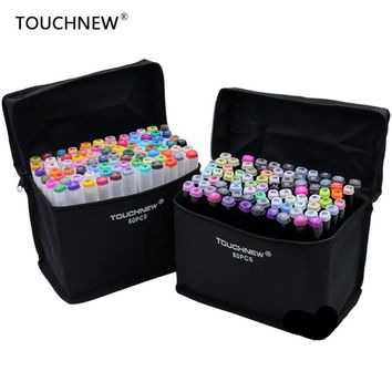 TOUCHNEW 80 Colors Artist Double Headed Marker Animation Building Clothing Design School Drawing Sketch Marker Pen