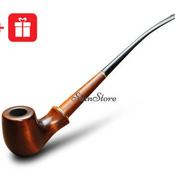 Churchwarden HOBBIT tobacco pipe Long Stem Smoking Pipe GANDALF Pipe Long Wooden Pipe Lord of the Rings LOTR Pipe for Tobacco Briar pipe