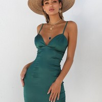 Buy Our Carmen Dress in Emerald Green Online Today! - Tiger Mist