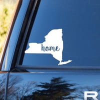 New York Home Decal | New York Decal | Homestate Decals | Love Sticker | Love Decal  | Car Decal | Car Stickers | 124