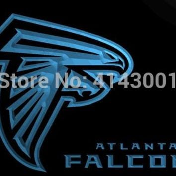 LS855-b- Atlanta Falcons Football Bar 3D LED Neon Light Sign Customize on Demand 8 colors to choose