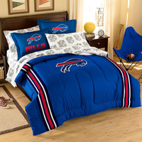 Buffalo Bills NFL Embroidered Comforter Set (Twin-Full) (64 x 86)