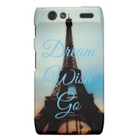 Dream Wish Go Droid Razr Barely There Case from Zazzle.com