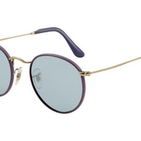 Ray Ban RB3475Q Sunglasses Purple Frame Blue Crystal Lens