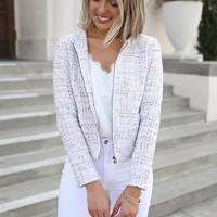 Tweed Jacket In Pastels