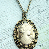 Lady Portrait Cameo Necklace