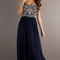 New Beaded Party Prom Dresses Long Evening Dresses Homecoming Bridesmaid Dresses