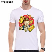 New 2017 Fashion Stranger Things Print T-shirts Original  Character Design Mens T Shirts Summer Hipster Tops Tshirt Homme pa596