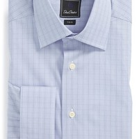 David Donahue Trim Fit French Cuff Dress Shirt,