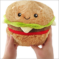Mini Squishable Hamburger: An Adorable Fuzzy Plush to Snurfle and Squeeze!