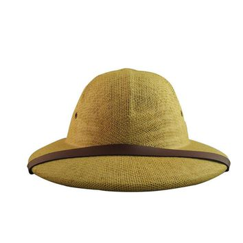 Men Women Hard Straw Hat Helmet Sunhat Pith safari Jungle Miners cap bucket hats
