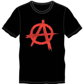 Anarchy Symbol Sign Punk Rock Men's Black T-Shirt Tee Shirt
