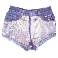 Disco high waisted shorts