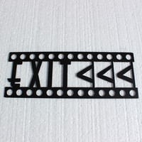 Exit Sign Home Theater Decor Metal Wall Art