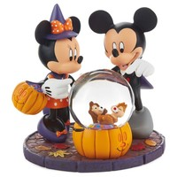 Halloween Mickey and Minnie Mouse Water Globe