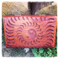 Carved Wooden Yin Yang Box
