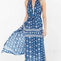 Faithfull The Brand Promenade Maxi Dress- Blue Multi