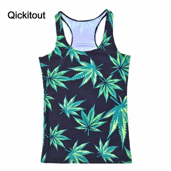 Drop Shipping Summer New Hot Women t-shirt Cartoon/Shark vs Mermaid/The Green leaf Vest Tops Adventure Time Camisole Sexy Tank
