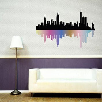 Fulcolor Wall Decal Vinyl Sticker Decals Art Decor Design Skyline City  Statue Of Liberty NY New