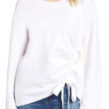 Stateside Gathered French Terry Sweatshirt | Nordstrom
