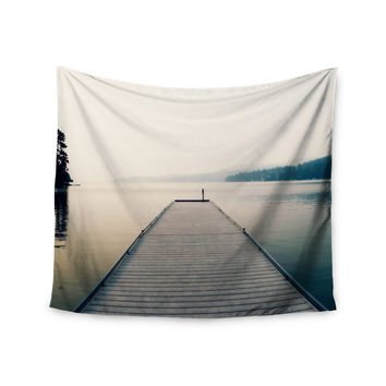 "Robin Dickinson ""Tranquility"" Blue Green Wall Tapestry"