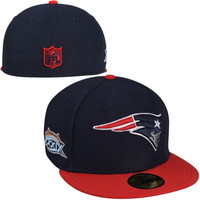 New Era New England Patriots Super Bowl XXXIX Side Patcher 59FIFTY Fitted Hat - Navy Blue