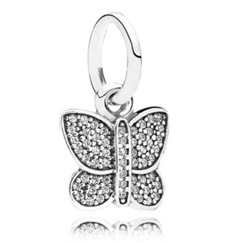Pandora Sparkling Butterfly Dangle at Von Maur