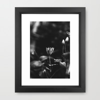 Reaching out - BW Framed Art Print by HappyMelvin Protanopia
