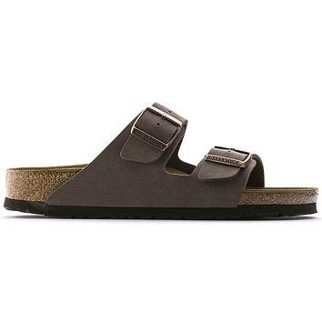 Hot Sale Birkenstock Arizona Birko-Flor Summer Fashion Leather Beach Lovers Slippers Casual Sandals For Women Men Couples Slippers color Mocha size 36-45