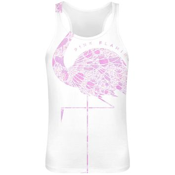 Pink Flamingo Sublimation Tank Top T-Shirt For MEN - 100% Soft Polyester - All-Over Printing - Custom Printed Mens Clothing