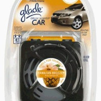 Glade Décor Scents Car Starter Air Fresheners, Hawaiian Breeze, .28 Ounce