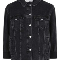 MOTO Denim Raw Hem Jacket - New In