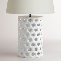 White Honeycomb Table Lamp Base