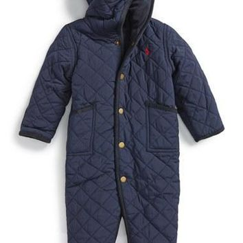 Infant Boy's Ralph Lauren 'Barn' Quilted Bunting,