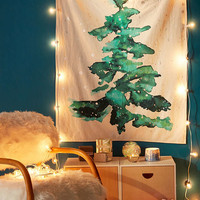 Foil Snow Tree Tapestry - Urban Outfitters