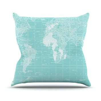 "Catherine Holcombe ""Welcome to my World"" Throw Pillow - Outlet Item"