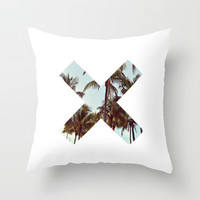 The XX Palm Trees Throw Pillow by productoslocos | Society6