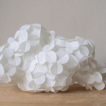 home decor geometric white fabric cloud scuplture art origami gift idea